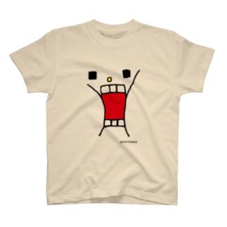 ウサギのウーの「かおドーン」 T-shirts