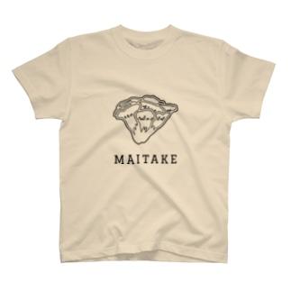 マイタケ_黒線 T-shirts