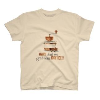 コーヒー飲みませんか T-shirts