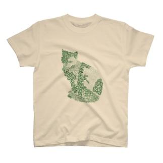 和柄ねこ T-shirts