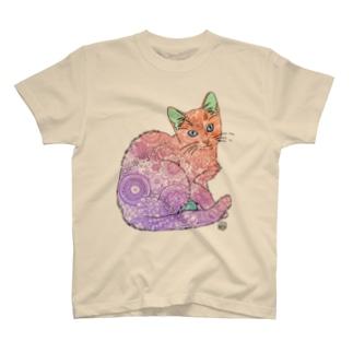 ゼンタングルねこ② T-shirts