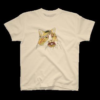 ねこめろんぱんのどーなっつねこ T-shirts