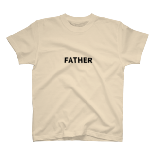 FAMILY SHOPのFATHER(黒文字) T-shirts