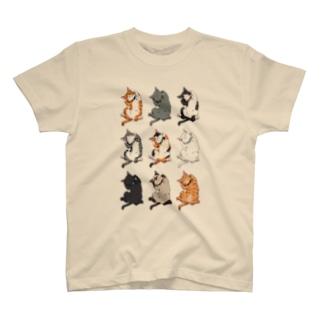 ヘソ天猫 T-shirts
