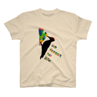 クマゲラ★キツツキ T-shirts