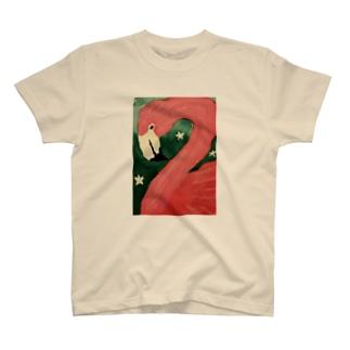 おはなとフラミンゴちゃん T-shirts