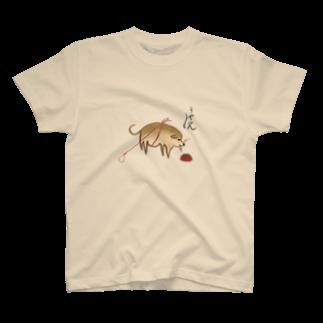 いぬころ@柴犬屋の仙厓のきゃふん犬 T-shirts