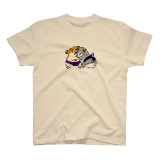 相撲とってるハムちゃんズ T-shirts