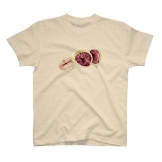 イチジク 水彩 T-shirts