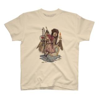 籠の中の花 T-shirts