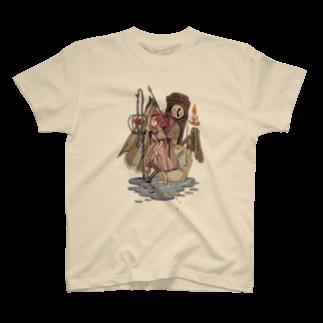 カラサワの籠の中の花 T-shirts