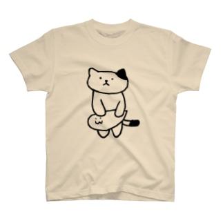 たましいくんtoねこ T-shirts