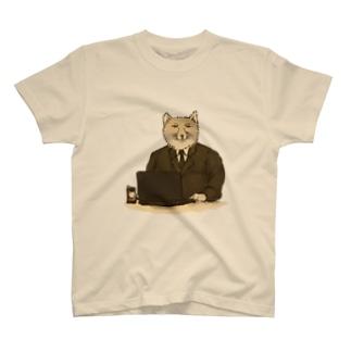 残業スナギツネ T-shirts