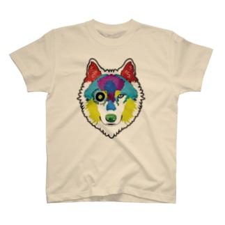 狼-絵具 T-shirts