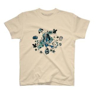 S▲B▲tO(15SS/k-blu) T-shirts