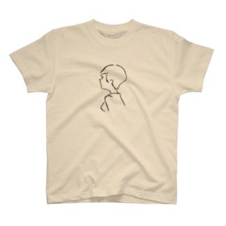 ガールフレンドショートヘア T-shirts