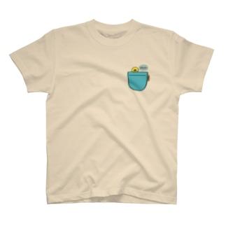 ポケットからぴよたそ~ T-shirts
