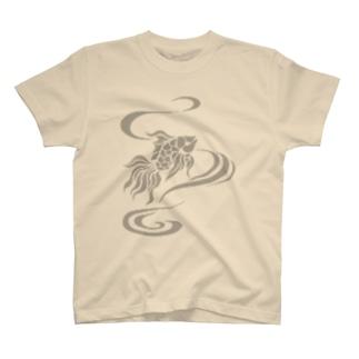 ちょっと笑ってる金魚 T-shirts