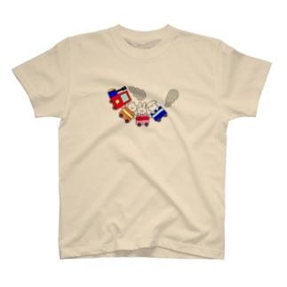 汽車ぽっぽ T-shirts