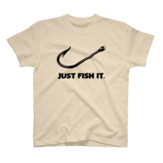 JUST FISH IT (ナイキ パロディー) T-shirts