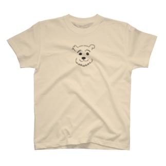 手書きシュナ Black T-shirts