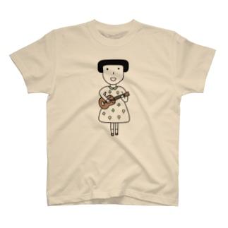 ウクレレ女子 T-shirts