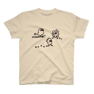 スライドちょぴ 鳥さんみたいなイキモノ T-shirts