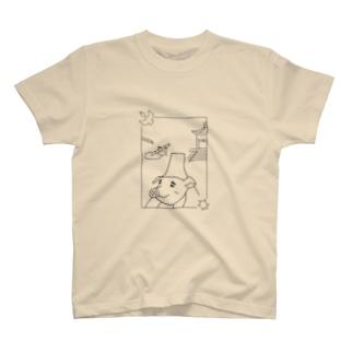 ぶっきゅ~さんと、ししおどしと、ぶっきゅ~寺。 T-shirts