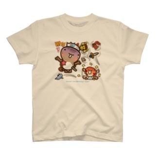 邑南町ゆるキャラ:オオナン・ショウ『Why?』 T-shirts