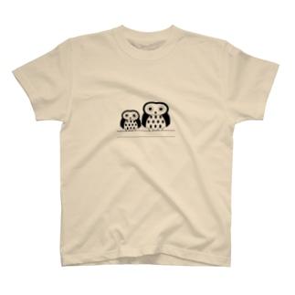 ふくろう001 文字なし T-shirts