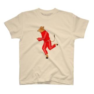 ジャージ姿ジャージー牛さん T-shirts