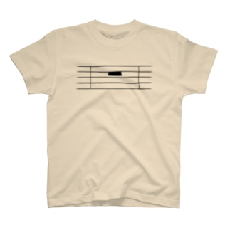 全休符(黒字) T-shirts