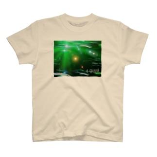 数秘&カラー (4グリーン) T-shirts
