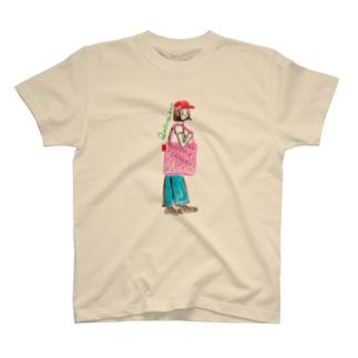 キルティングバッグガール T-shirts