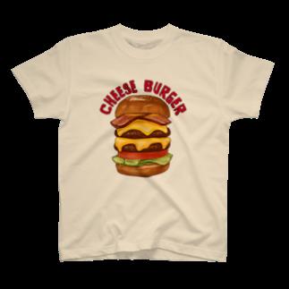 すとろべりーガムFactoryのチーズバーガー T-shirts