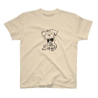 ゆるっとグリフォン(モノクロ) T-shirts