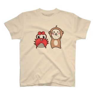 猿と蟹 T-shirts