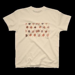 nuppuのまーるいお花たち T-shirts
