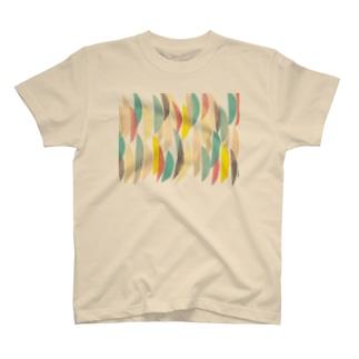 カラフルな半月模様 T-shirts