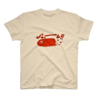 びゅっーん!!真っ赤なぽいぽい君 T-shirts