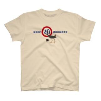 KEEP40 IRIOMOTE クイナ青文字 T-shirts