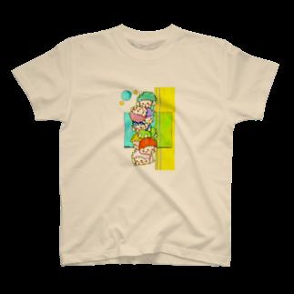 明白のむくむくタワー T-shirts
