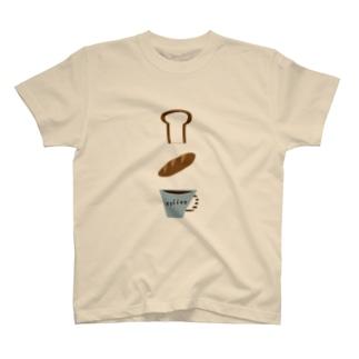パンとコーヒー T-shirts