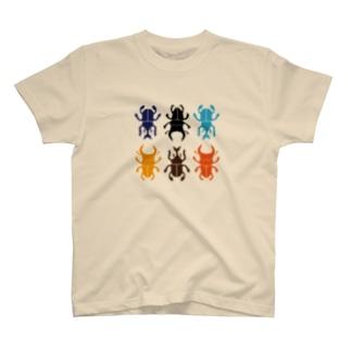 カブトムシとクワガタの詰め合わせ カブクワコレクション T-shirts