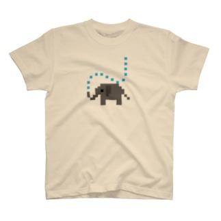 ゲンのかくかくゾウ T-shirts