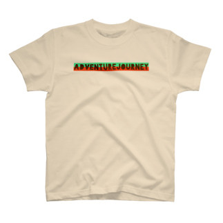 ADVENTUREJOURNEYのTROPICALLOGOT-グリーン×オレンジ T-shirts