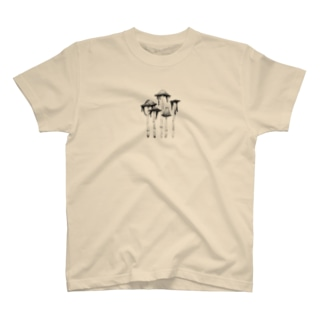 ミステリアスなキノコたち :ササクレヒトヨタケ T-shirts