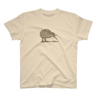 キーウィ(ブラウン) T-shirts