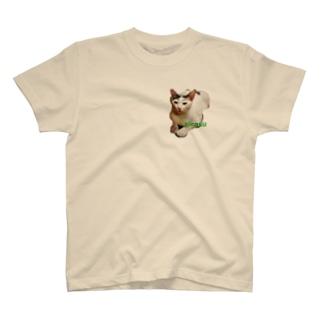 眉毛猫しらす T-shirts