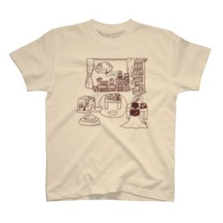 「えほんカフェの日常」3 T-shirts